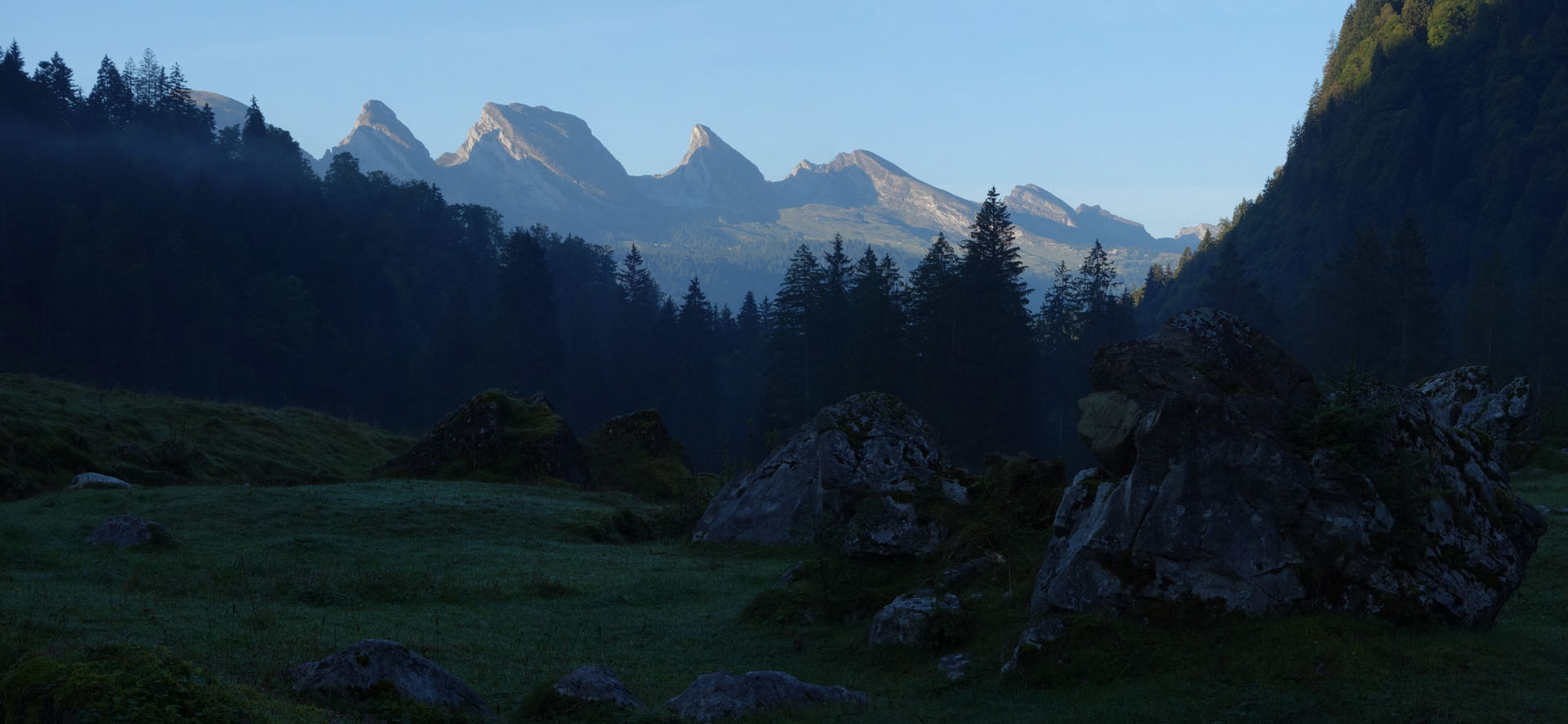 Churfirsten am Morgen