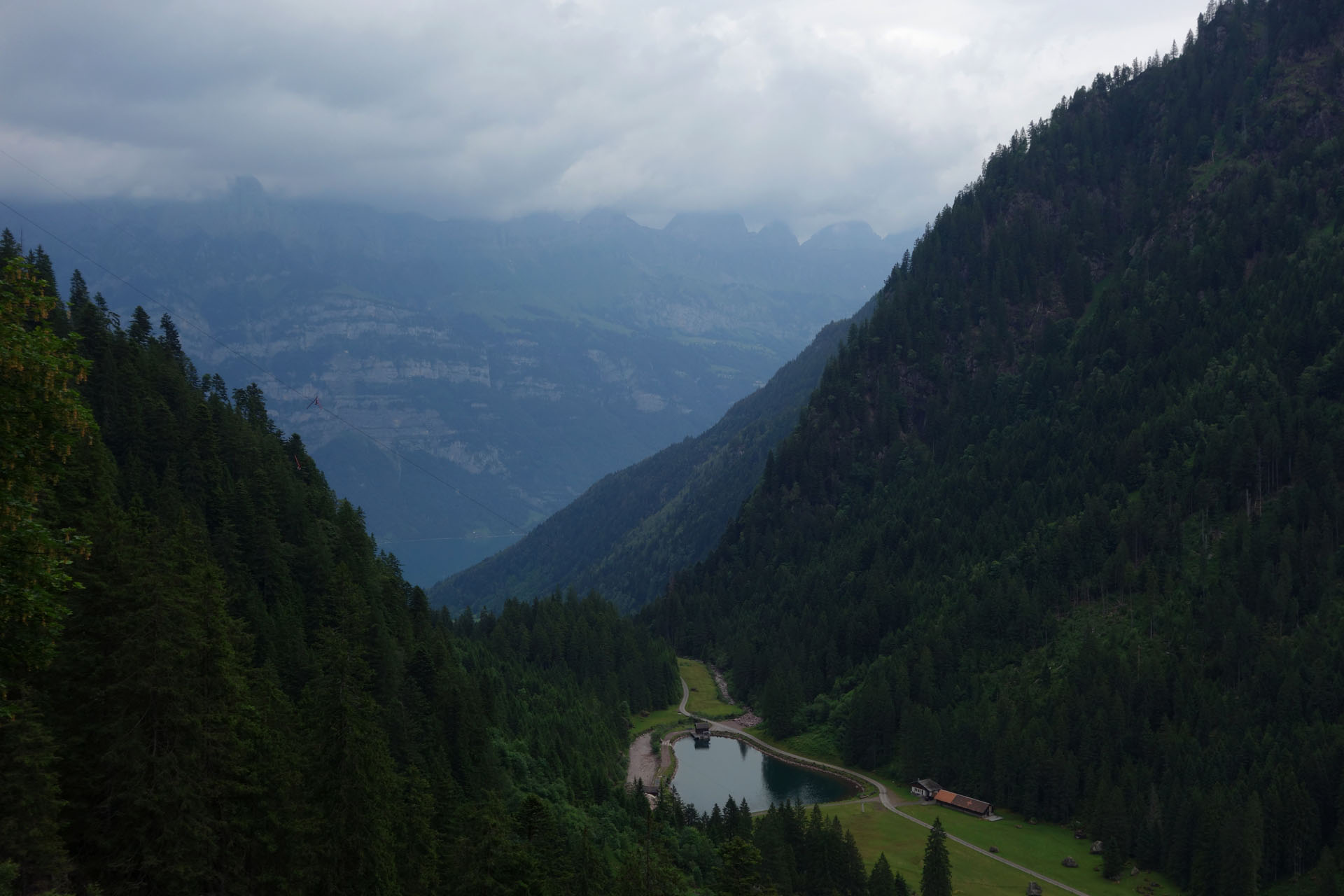 Churfirsten in Wolken